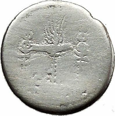 MARK ANTONY & CLEOPATRA Legion Ship Augustus Ancient Silver Roman Coin i39138