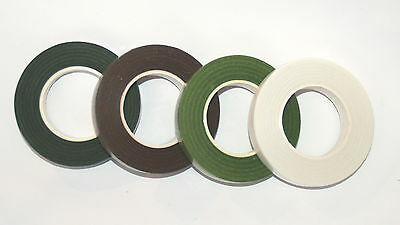 4 Reels of Florist Tape, Light Green, Green, Brown, White Mix & Match any colour
