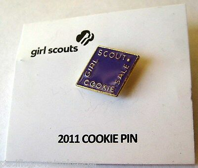 Girl Scout 2011 COOKIE SALE LILAC PIN Purple Lavender NEW Diamond Brownie Junior