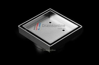 SMART Tile Insert Chrome Brass Square Floor Waste Grates Bathroom Shower