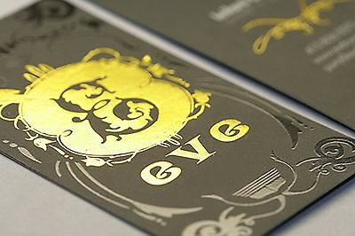 2500 Full Color 2 Sided SILK Laminated Silver or Gold FOIL Business Card