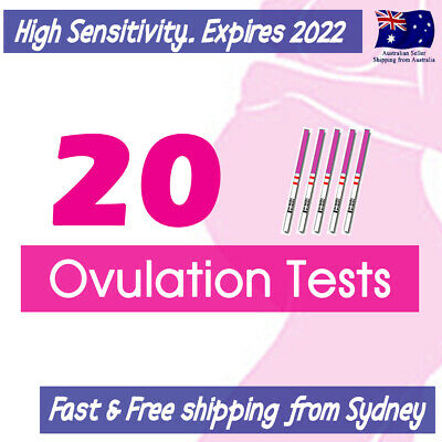20x Ovulation (LH) Tests Urine Strips+5 Urine Cups OPK Kit GET PREGNANT QUICKER