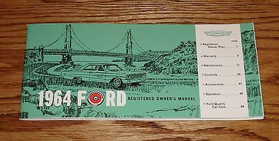 1964 Ford Owners Operators Manual Galaxie 64