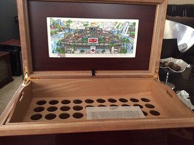 Montecristo Fazzino Museum Edition Super Bowl Humidor Cigar Band Box