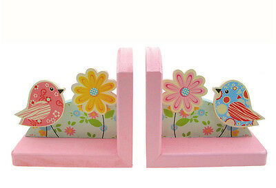 Kaper Kidz Children's Wooden Pastel Bird Bookends! Children's Decor!