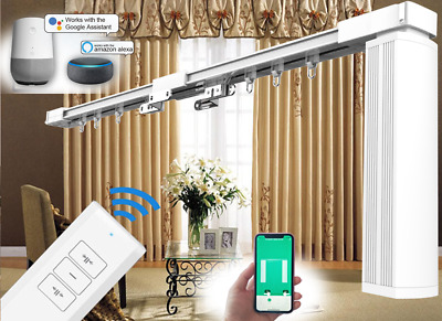 "3M (118"") Remote Control Motorized Curtain Tracks with Timer (Electric Curtains)"