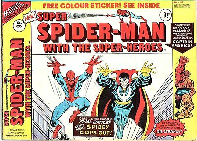 Super Spider-Man_#161_Bronze Age Comic_UK Variant_1976_VG+ 4.5