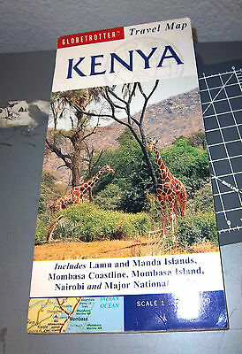 Africa Map Globetrotter Travel Map Kenya 1:1,300,000 , in fantastic condition