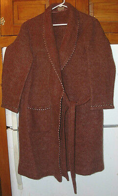 EXTREMELY RARE 19'th CENTURY J.N. ADAM CO. HEAVY MOHAIR? ROBE-S/M !