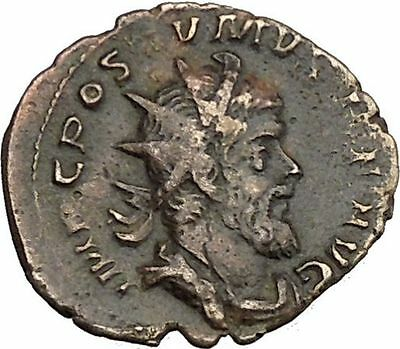 POSTUMUS 260AD VERY RARE Ancient Gallic Roman Coin  Victory Nike  Cult  i39260