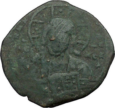 JESUS CHRIST Class A2 Anonymous Ancient 1028AD Byzantine Follis Coin  i39331
