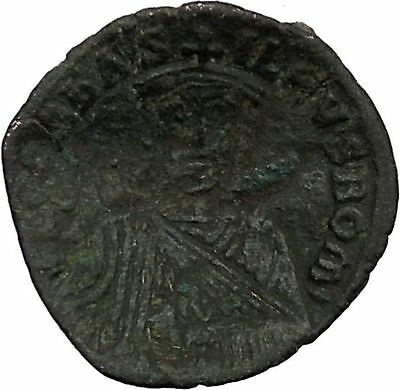 Leo VI, the Wise w purple silk roll 886AD Ancient Medieval Byzantine Coin i39344