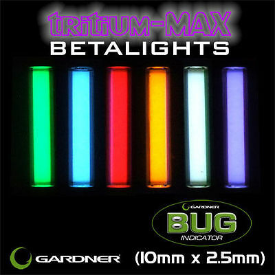 Gardner Tackle NEW Tritium Max Bug Betalights Isotopes *10mm x 2.5mm*