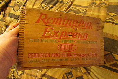 Vintage Wood Remington Express Ammo Box made into a cool light, unique item!