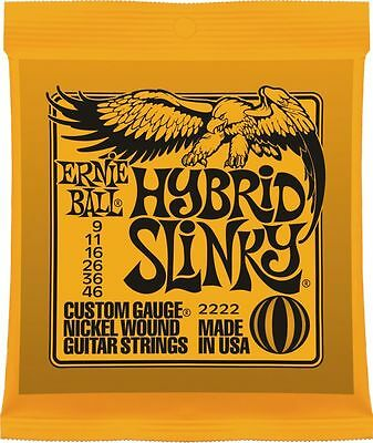 Ernie Ball Hybrid Slinky Electric Guitar Strings (2222)  9 - 46.  Legendary !!!