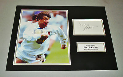 Rob Andrew Signed Photo 16x12 England Rugby Autograph Memorabilia Display + COA