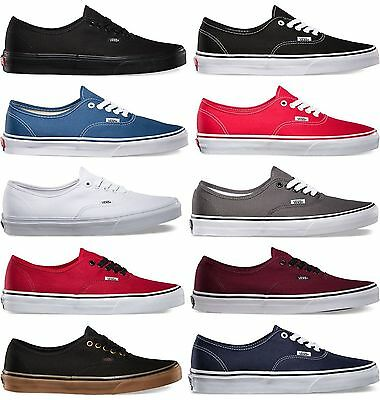 Vans Authentic Era Classic *Real*  Sneakers Canvas Mens Women Off The Wall Laces