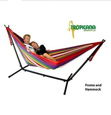 Tropicana Double Hammock + Frame Stand Set