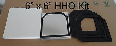 19 pcs 6x6 18Ga 316L SS HHO Kit w/20 Silicone Gaskets plus Corian Cover set.