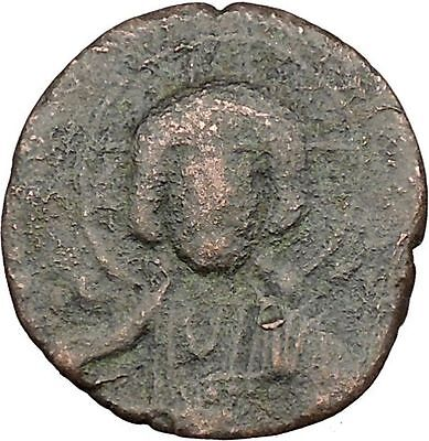JESUS CHRIST Class A2 Anonymous Ancient 1028AD Byzantine Follis Coin  i39424