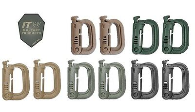 ITW MOLLE II Nexus Grimloc D-Ring Carabiner 2 Pack-Choose Your Color