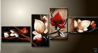 """4 pieces Large Modern Abstract Art Oil Painting """"flower"""" ART Wall Decor NO frame"""