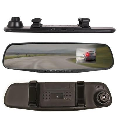 """J2D 2.4"""" Smart Rear View Mirror Replacement Car Dash Cam Camera Record 1080P"""
