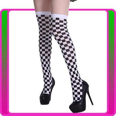 New Lingerie Hosiery checkered thigh high Stockings one size fits more