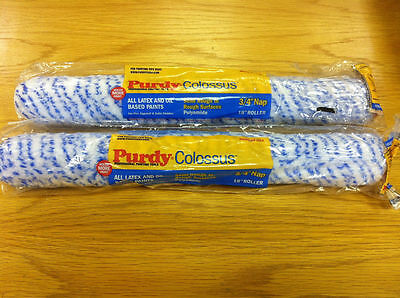 "2 x 18"" Purdy Colossus Medium Pile Rollers 1.5"" Diameter"