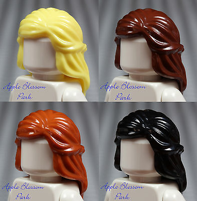 LEGO Minifig Hair Lot of 10 Female Girl Minifigure Parts Pieces Wig City x10 NEW
