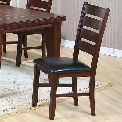 Imperial Rustic Oak Ladder Back Dining Side Chair by Coaster 101882 - Set of 2