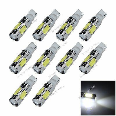 10X Car White 5 LED COB SMD 7.5W T10 W5W Wedge Side Light Bulb Lamp A077