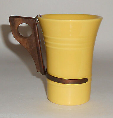 Pacific Pottery Hostess Ware Yellow Tumbler W/Handle! MINT