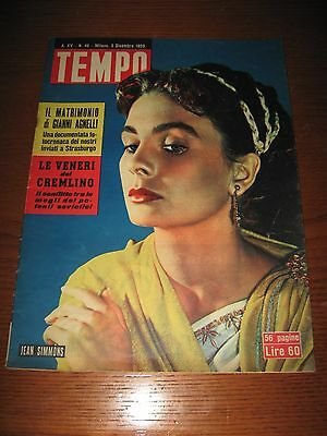 italian magazine with JEAN SIMMONS on cover 1953 !