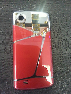 LG CHOCOLATE TOUCH VX8575 RED SILVER GENUINE BACK COVER BATTERY DOOR