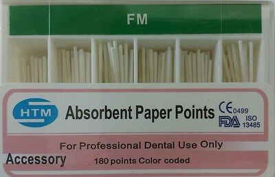 Absorbent Paper Points FM Accessory Box of 180 HTM Dental