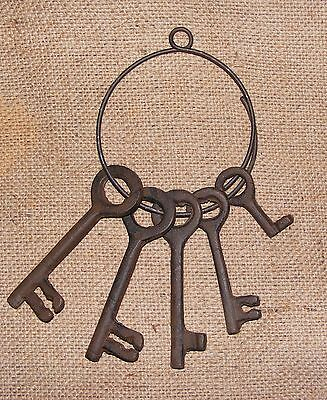 Jailers Keys Rustic Skeleton Key Set of 5 Western Primitive Reproduction #209