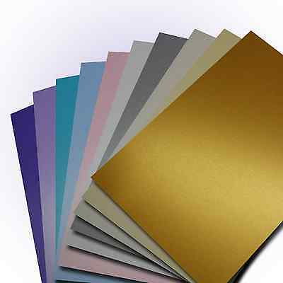 A4 Double Sided Centura Pearlescent -NEW! - 260gsm Pearlised Shimmer Craft Card