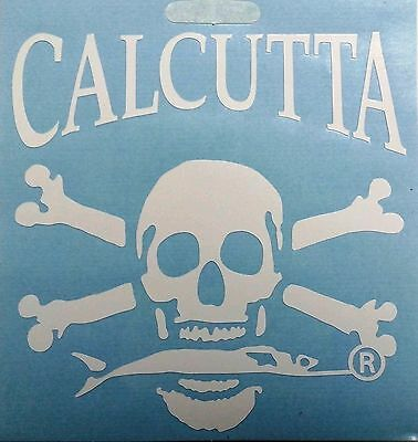 "Calcutta Die Cut Decal for Trucks/Cars/Boats 3.75"" x 3.75"" White"
