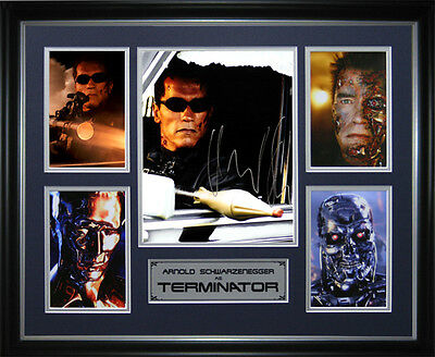 The Terminator Signed Framed Memorabilia