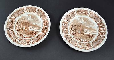 Two Alfred Meakin Fair Winds Salad Plates Staffordshire Chinese Export