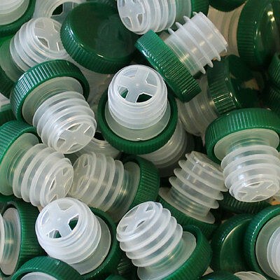 Wine Bottle Tasting Slow Pourer - Pack of 50 (Green Tops)