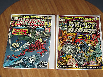 Daredevil #116 & Ghost Rider #8 1974 25 Cent Covers Marvel Comics