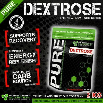 Dextrose Monohydrate 2Kg Pure Carbohydrate *pharmaceutical Grade Post Workout