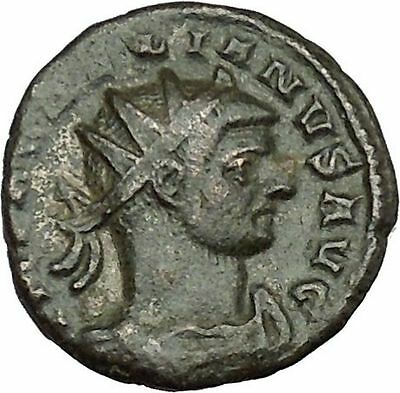 AURELIAN receiving globe from nude Jupiter 272AD  Ancient Roman Coin  i39578