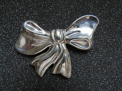 P-44 Sterling Silver Bow Brooch. See Pictures
