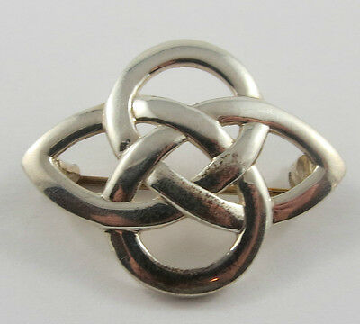 P-52 Sterling Silver Interwoven Design Brooch . See Pictures