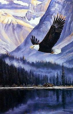 "Andrew Kiss ""Breaking the Silence"" Eagle   Art Print 12"" x 7.75"""