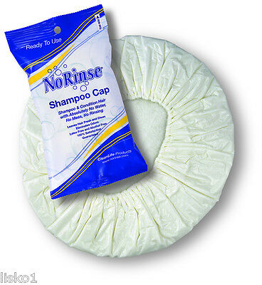No Rinse Shampoo Cap Clean & Condition Hair w/ No Water 1-cap