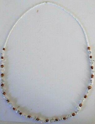 Navajo Ghost Cedar Beads Juniper Berry, White Turquoise nuggets 30 inch Necklace